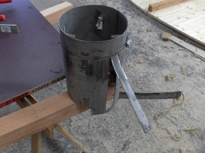 cylindre inox pour passage tuyau de fumée