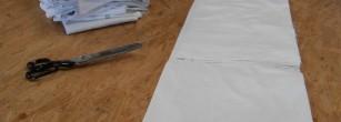 Draps recyclés pour toile de yourte