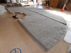 fabrication de l'isolation du toit d'une yourte