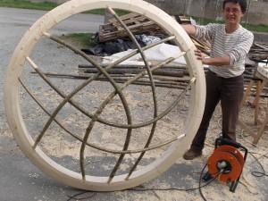 fabrication d'une couronne de yourte