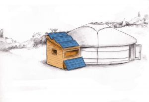yourte et module autonome en énergie