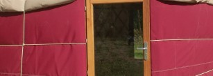 Porte de yourte en chêne